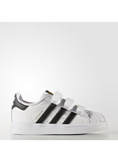 adidas Unisex Bebek Superstar Cf I Spor Ayakkabı BZ0418 Beyaz